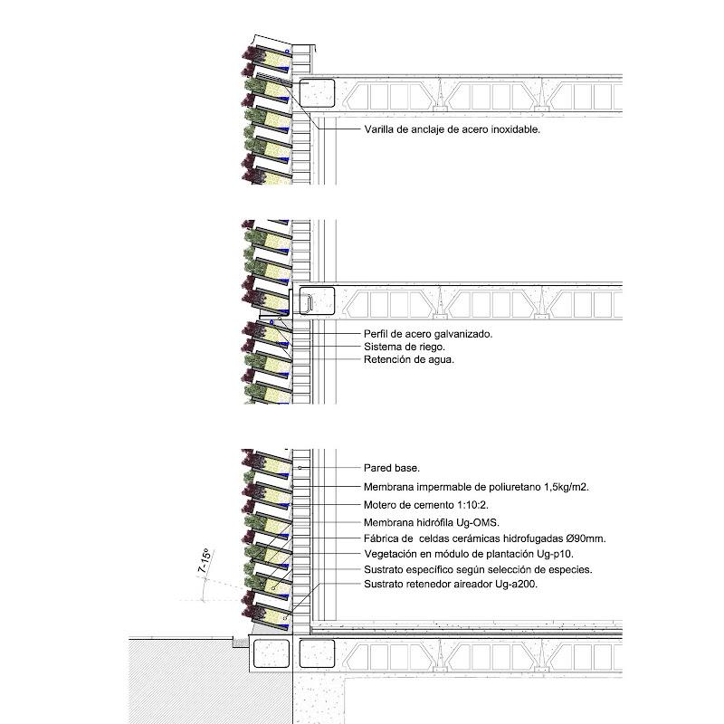 Arkaycos homegreen tipos de fachadas verdes for Muro verde sistema constructivo