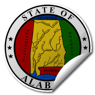 Sticker of Alabama Seal