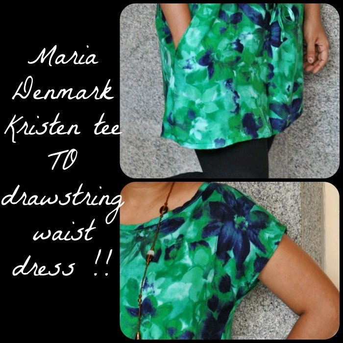Free sewing pattern maria denmark kristen tee with kimono sleeves and boat neck easy and super for beginers
