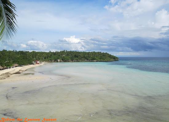 Pristine beach of Camotes Island.