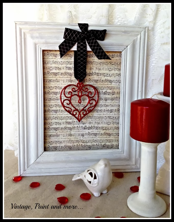 Hanging Heart Frame | Vintage, Paint and more...
