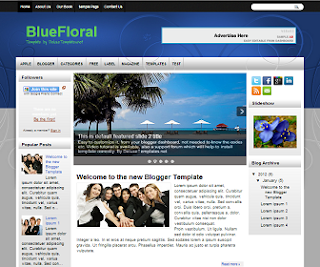 BlueFloral+Blogger+Template