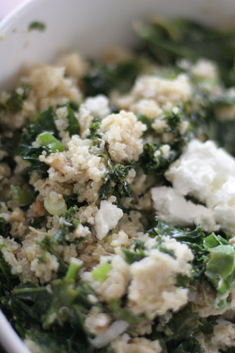 flour & child: Dinner @ 226 - One Pot Kale and Quinoa Pilaf