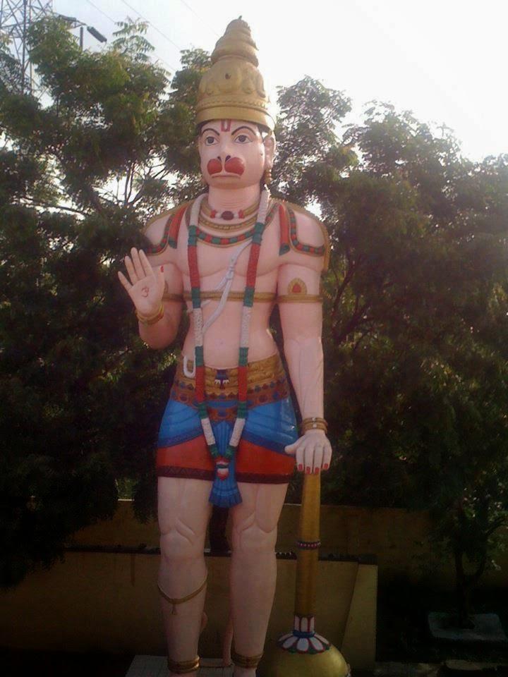 Lord Hanuman standing statue at Kothagudem