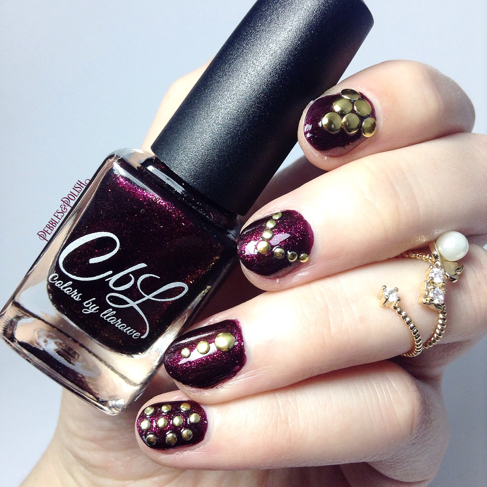 Vampy Nail Art with Breathless by Colors by Llarowe + Mini Review of ...
