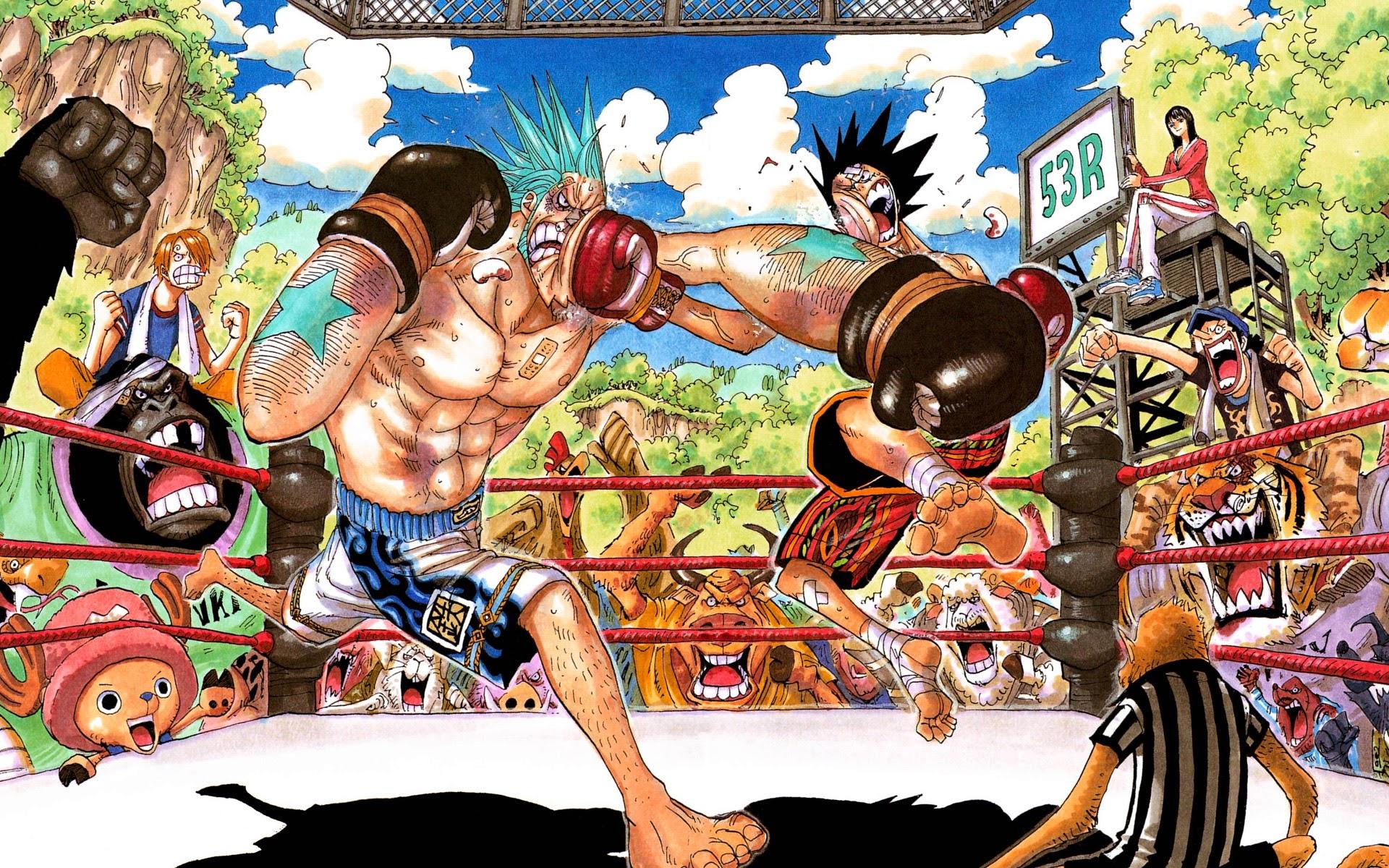 franky vs luffy one piece boxing anime hd wallpaper 1920x1200 0j.