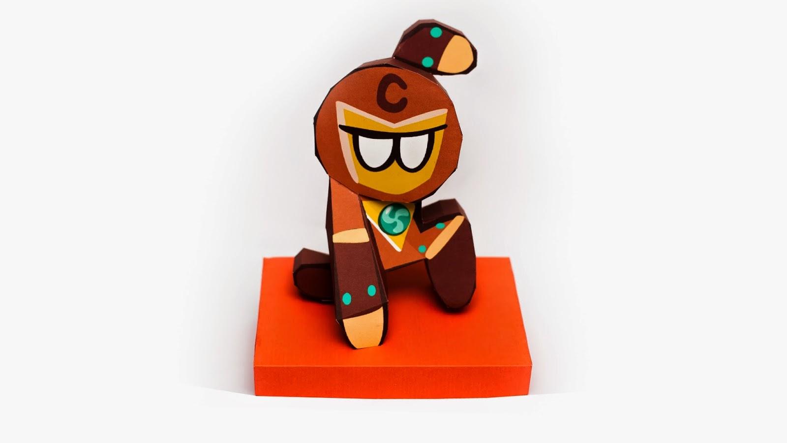 LINE Cookie - Run Hero Cookie Papercraft