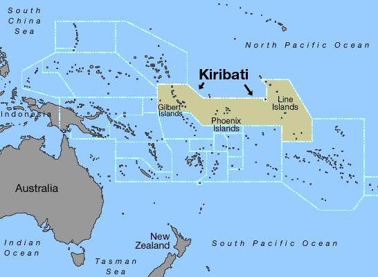 Samoa Kiribati Map - Map samoa