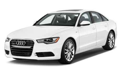 Front 3/4 view of the 2014 Audi A6