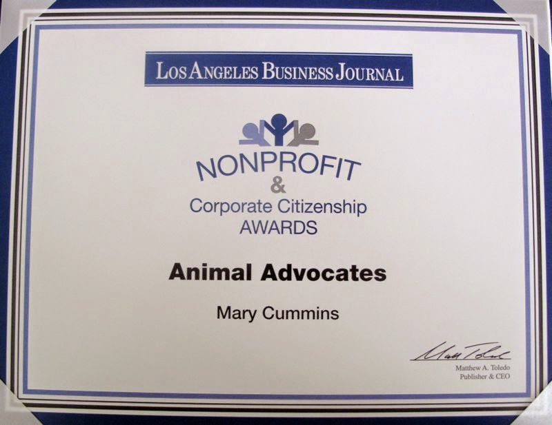 Mary Cummins Animal Advocates award