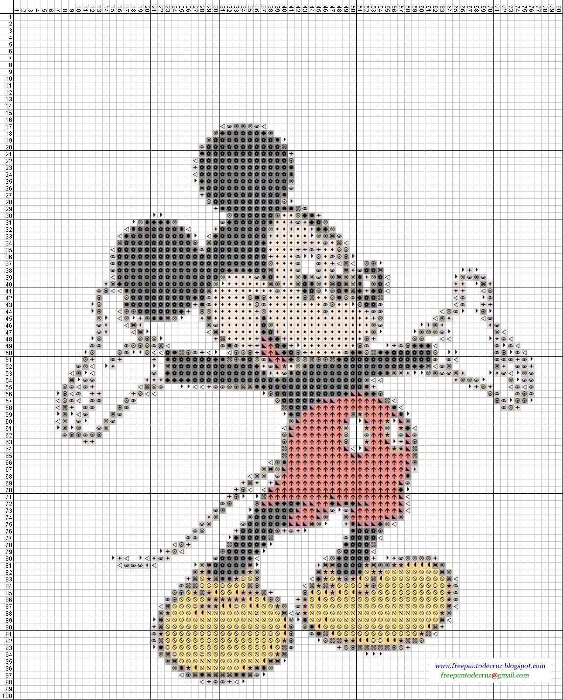 Dibujos punto de cruz gratis mickey and amigos - Videos de punto de cruz ...