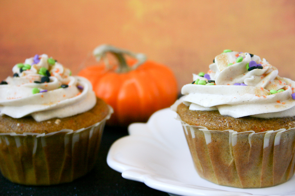 Pumpkin Spice Cupcakes for Two.
