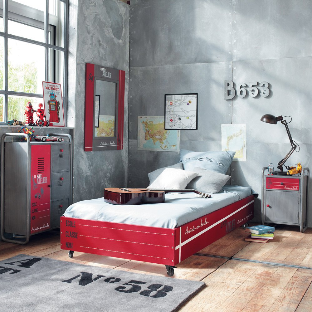 Dep sito santa mariah quarto para jovens em estilo industrial for Paredes estilo industrial