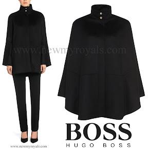 Queen Letizia Style Hugo Boss Capina wool cape