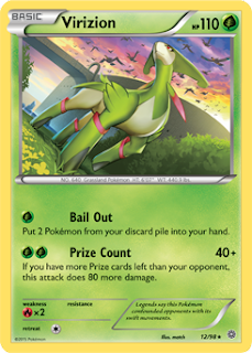 Virizion Ancient Origins Pokemon Card