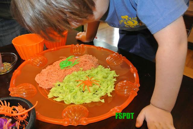 Halloween Sensory Noodles Play Activity