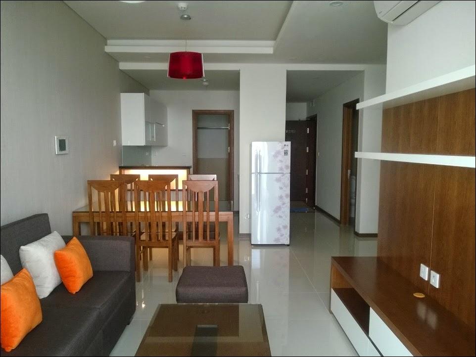 Bếp mở tại chung cư Thảo Điền Pearl