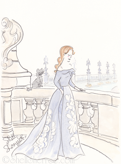 Fashion and fluffballs illustration : Wandering Not Lost in Paris © Shell-Sherree