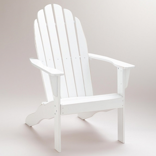 Cost Plus World Market Antique White Classic Adirondack Chair