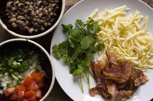 New Year's Day Migas with black-eyed peas and bacon | Homesick Texan