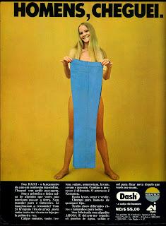 propaganda calças Dash - 1970. Os anos 70.