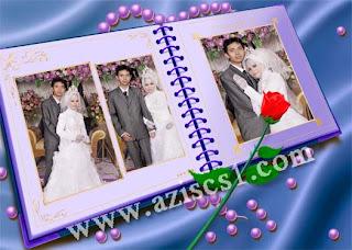 Frame wedding untuk 3 foto