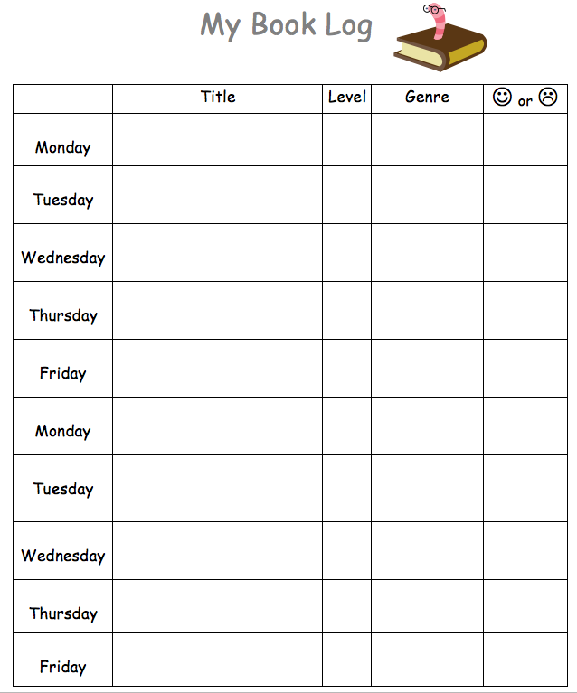 chart template for word