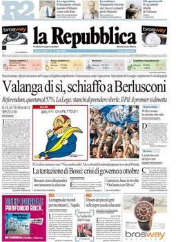 La prima pagina del 14 giugno 2011