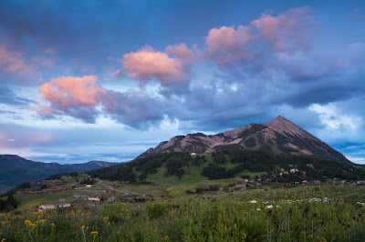 Mt. Crested Butte at Sunset