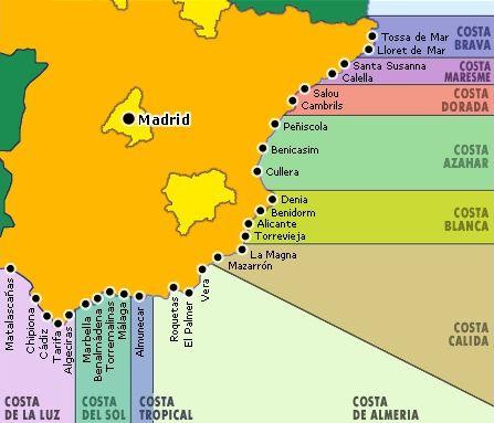 Испания карта регионов