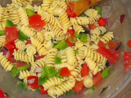 Simple Garden Pasta Salad - Food, Fun, and Happiness