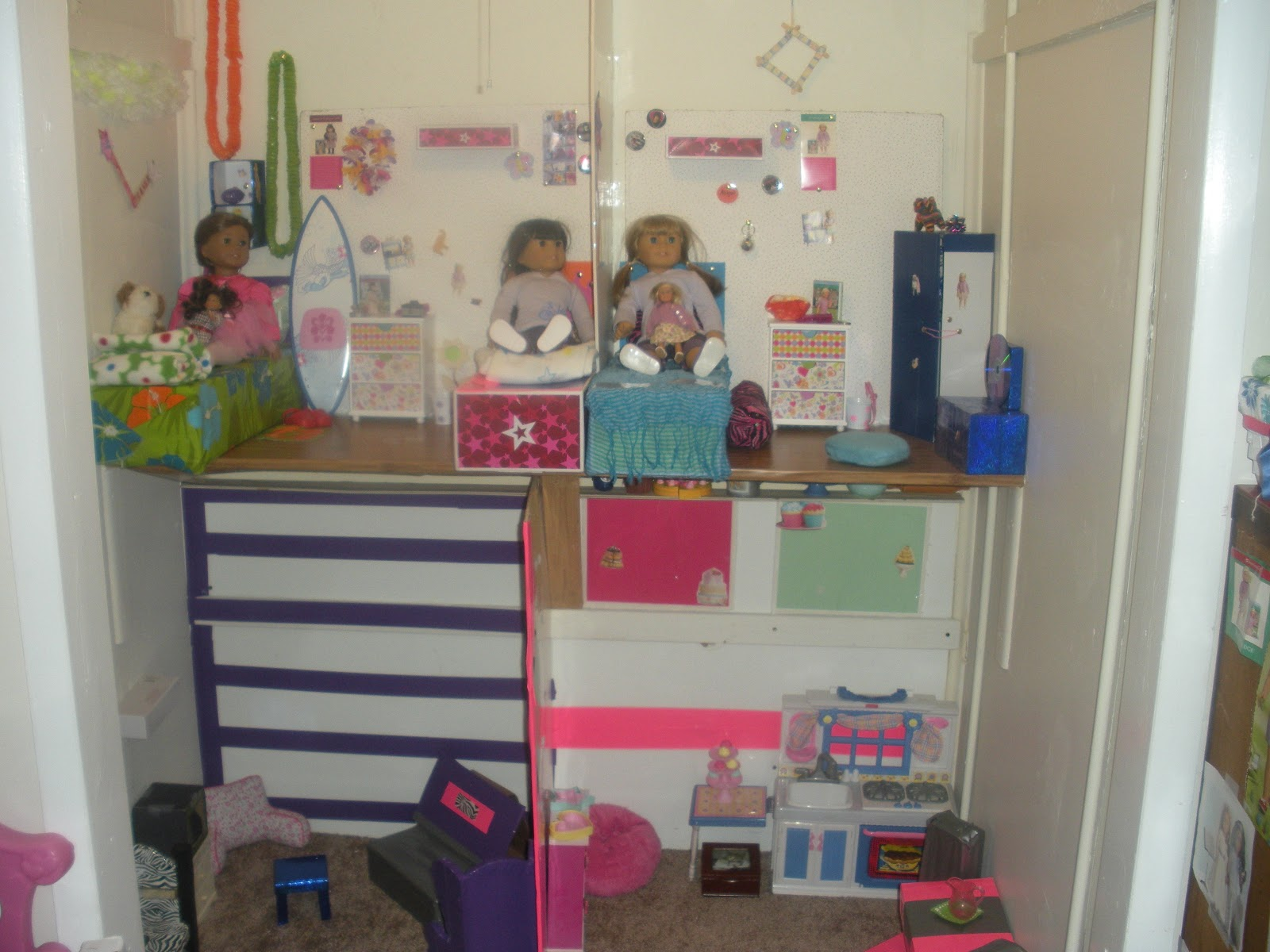 misskristiscraftteachingdollblog - How To Make A American Girl Room