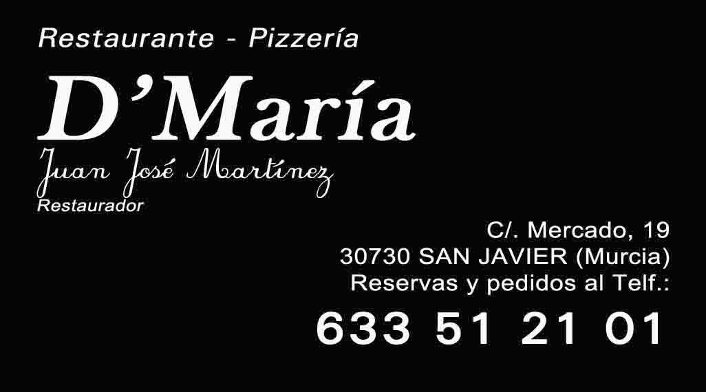 Restaurante-Pizzería D'María