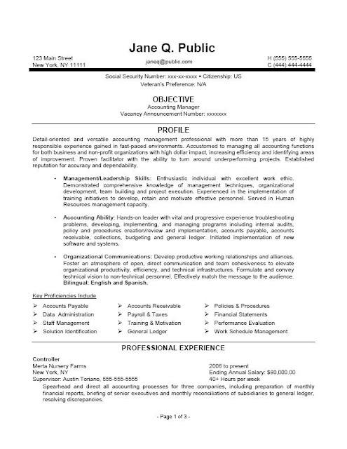 Accounting Manager Resume Templates8