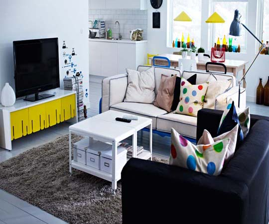 interior design ideas: 2013 ikea living room interior design and decor