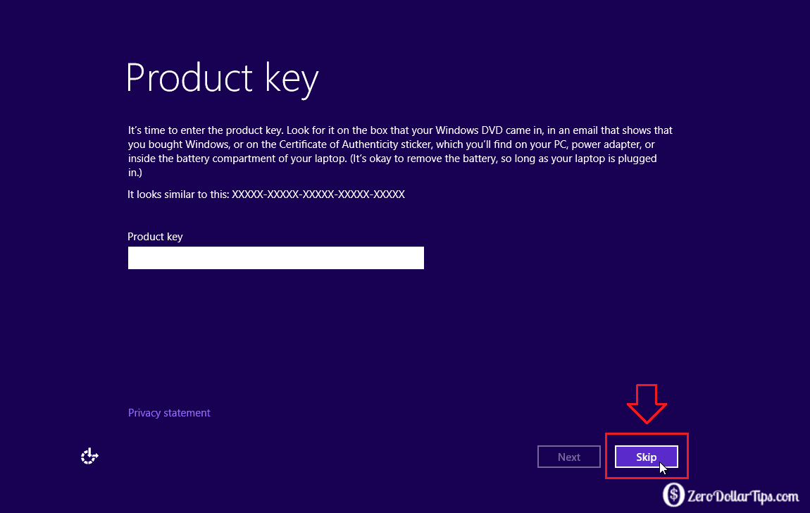 How2 install windows10 without genuine windows key how to for Window 8 product key