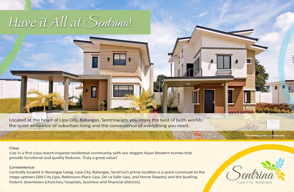 Home Of Your Rent To Own Information Center In The Philippines Sentrina Lipa Amara Expanded
