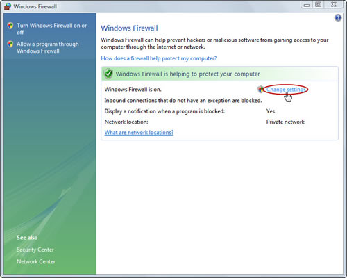 enable windows firewall exception for remote desktop connection