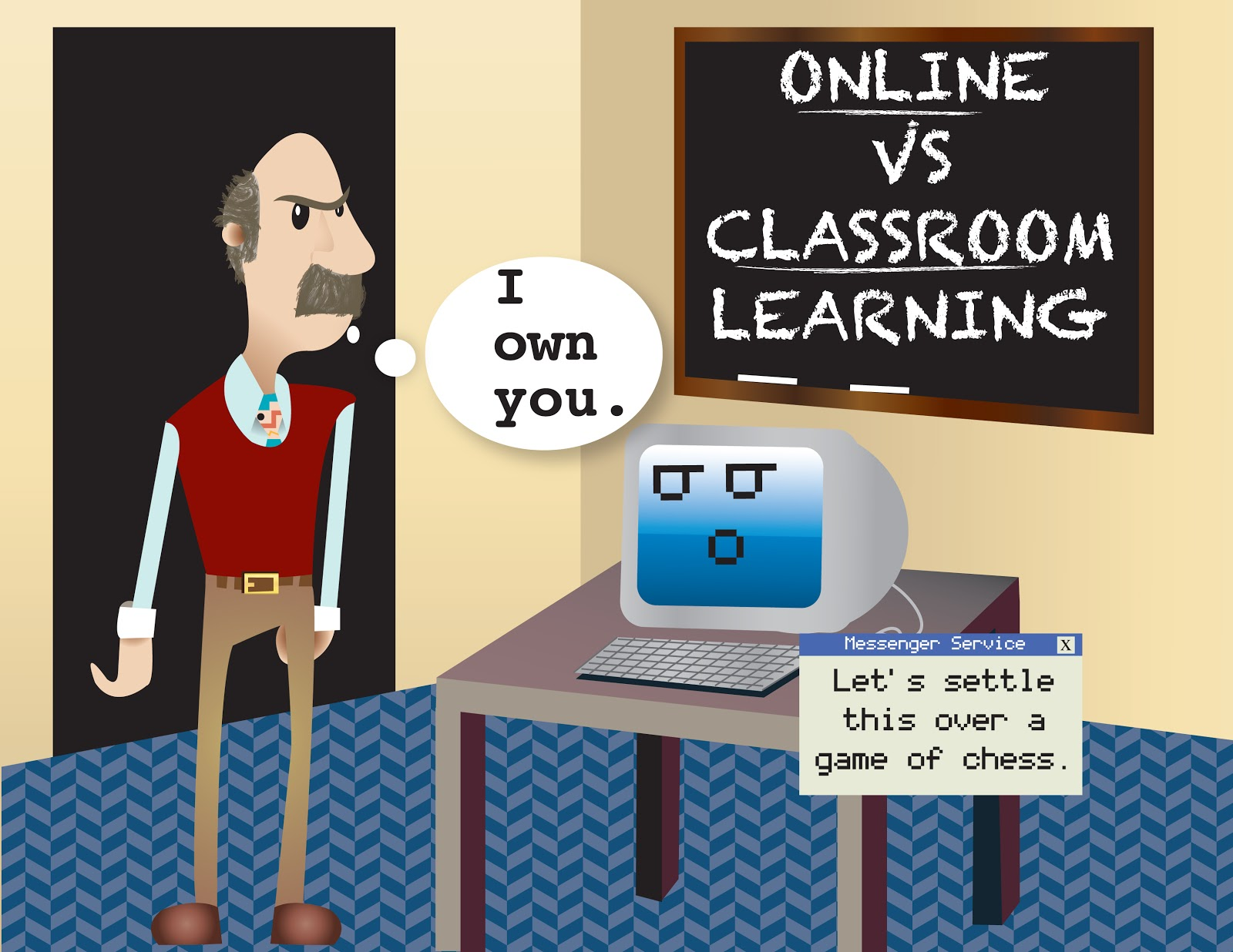 online vs classroom education We discuss traditional classroom, e-learning, behavioral engagement and  difference between behavioral engagements in two kind of instruction  environment.
