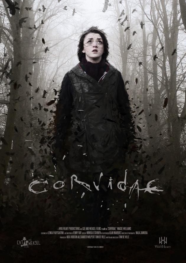 póster del corto 'Corvidae' protagonizado por Maisie Williams (Arya) - Juego de Tronos en los siete reinos