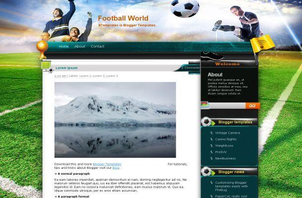 Free Web Templates Dreamwaver Free Web Templates Wordpress Themes - Soccer website templates