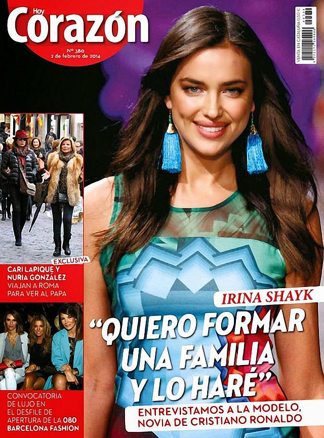 Irina Shayk es la nueva portada de la revista Hoy Corazón febrero 2014