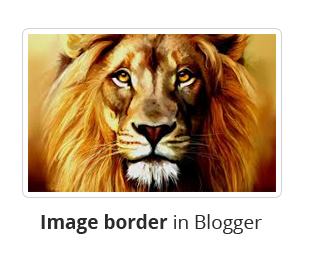 Cara Menambah Border Image di Blogger