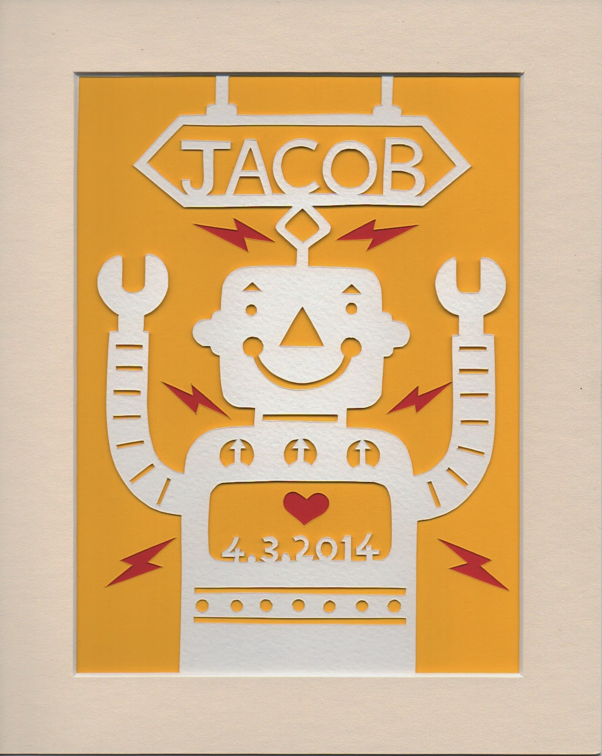 Picture of a robot papercut