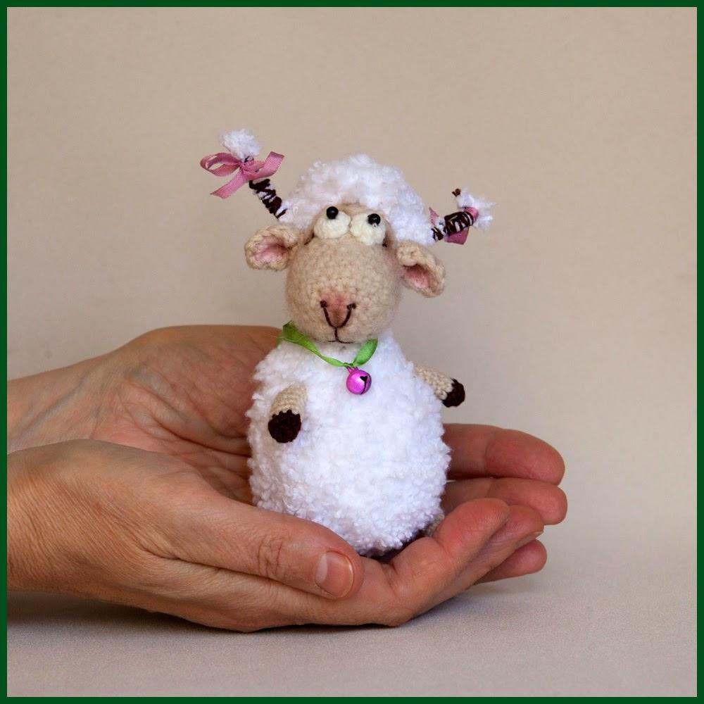 Мастер класс по вязания овечки крючком 13