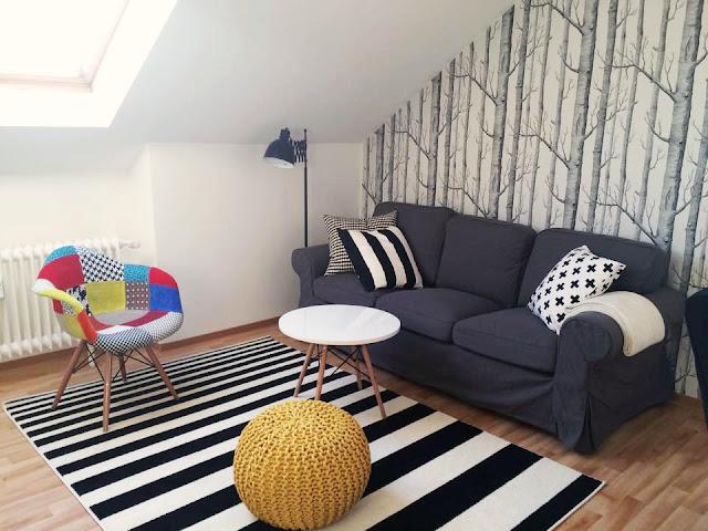 pokój dzienny, salon styl skandynawski, livingroom