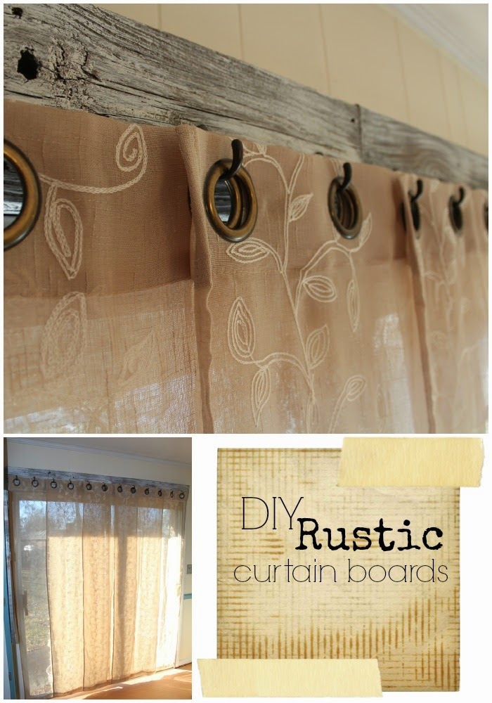 DIY Rustic Curtain Boards