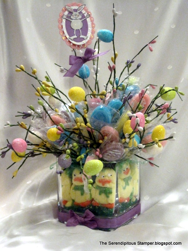 The Serendipitous Stamper: Easter Candy Bouquet