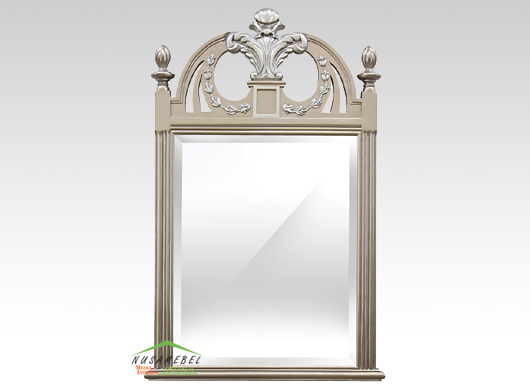 Mahogany Wall Mirror Jerome in Antique Gold Finish