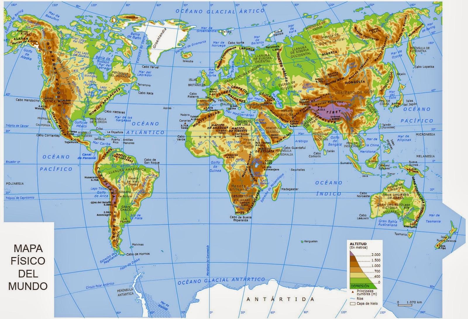 Ciencias sociales mapa f sico del mundo for Mapa del mundo decoracion